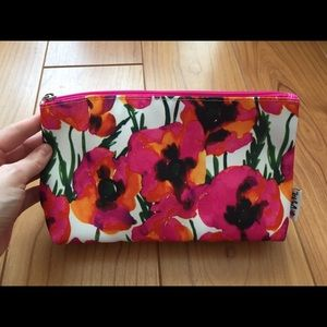 Vera Painted Floral Clinique Makeup Bag